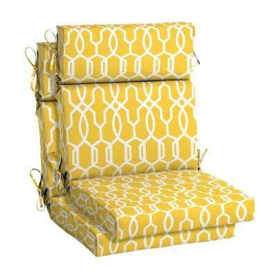 Driweave 21 5 X 44 Vase Lattice High Back Outdoor Chair Cushion 2 Pack