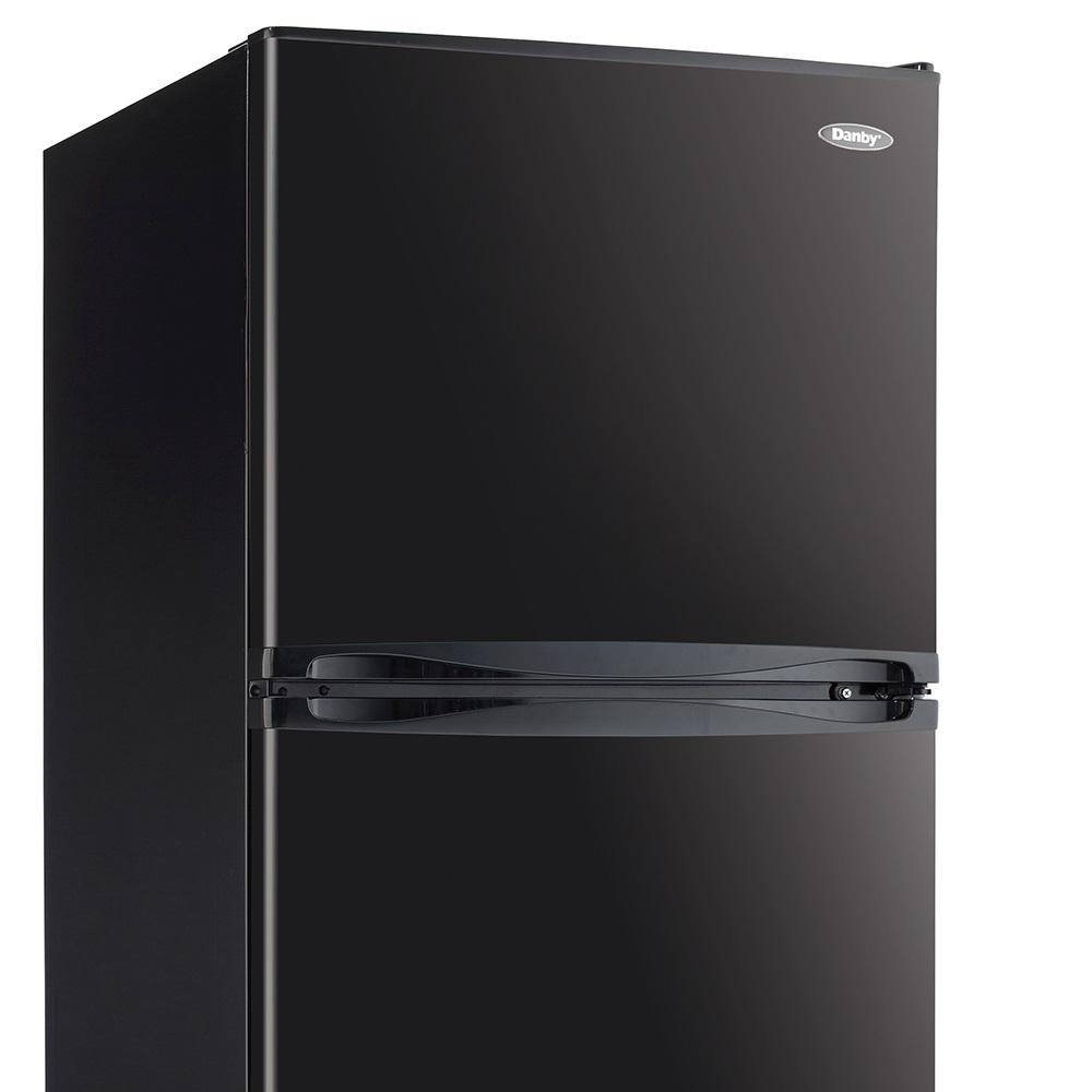 24 ft. 10 cu. ft. Freestanding Top Freezer Refrigerator in Black