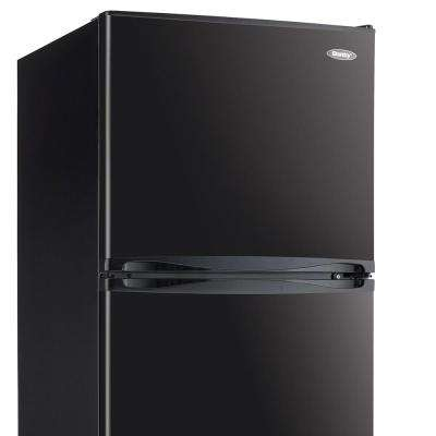 23.8 in. 10 cu.ft. Freestanding Top Freezer Refrigerator in Black