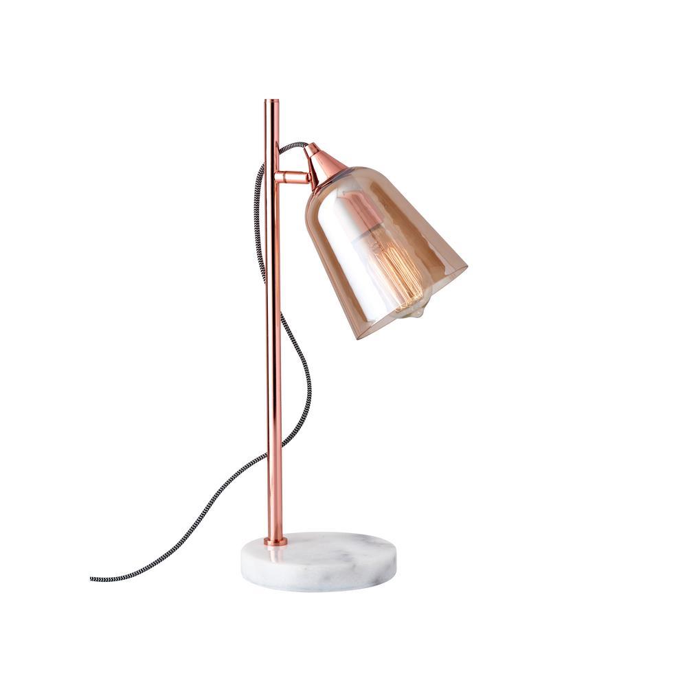 20 in. Copper Marlon Table Lamp