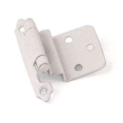 Inset White 3/8 in. Self-Closing Hinge (1-Pair)