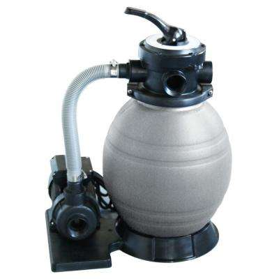 12 in. Sand Filter System with 1/2 HP Pool Pump for Above Ground Pools