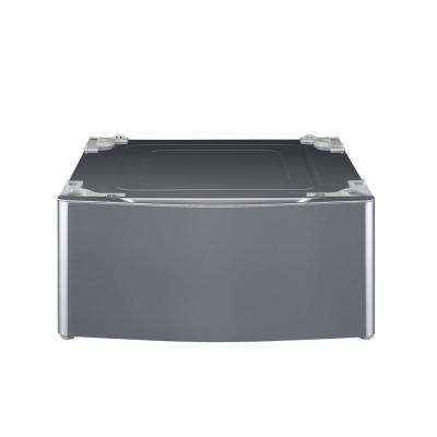 29 in. Laundry Pedestal with Storage Drawer in Graphite Steel