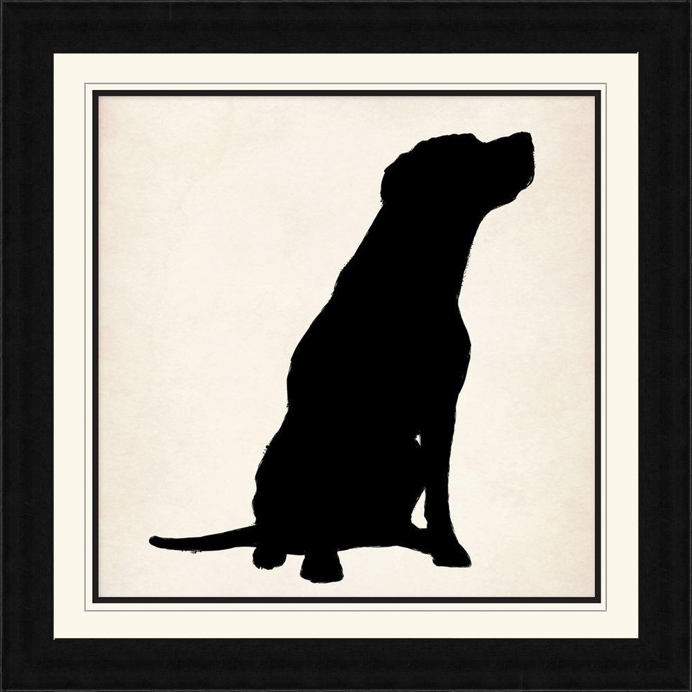 "28 1/4 in. x 28 1/4 in. ""Dog Silhouette"" Framed Wall Art"