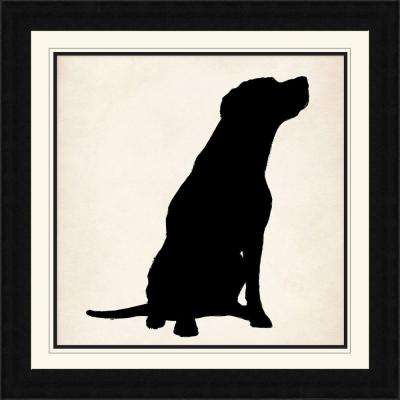 "28 1/4 in. x 28 1/4 in. ""Dog Silhouette"" Framed Wall Art"