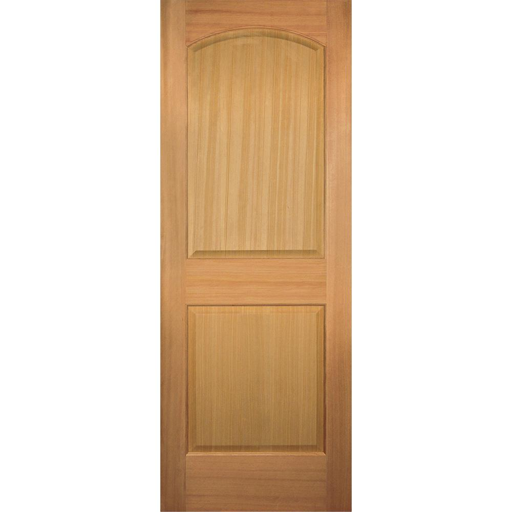 Builder's Choice 28 in. x 80 in. 2-Panel Arch Top Stain Grade Wood Hemlock Interior Door Slab