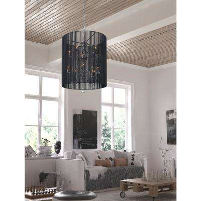 Whitney 10-Light Black Ceiling Lamp