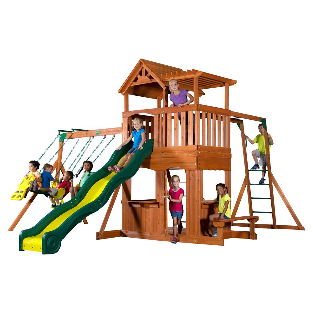 Backyard Discovery Thunder Ridge All Cedar Playset - Backyard Discovery Thunder Ridge All Cedar Playset-36214com - The