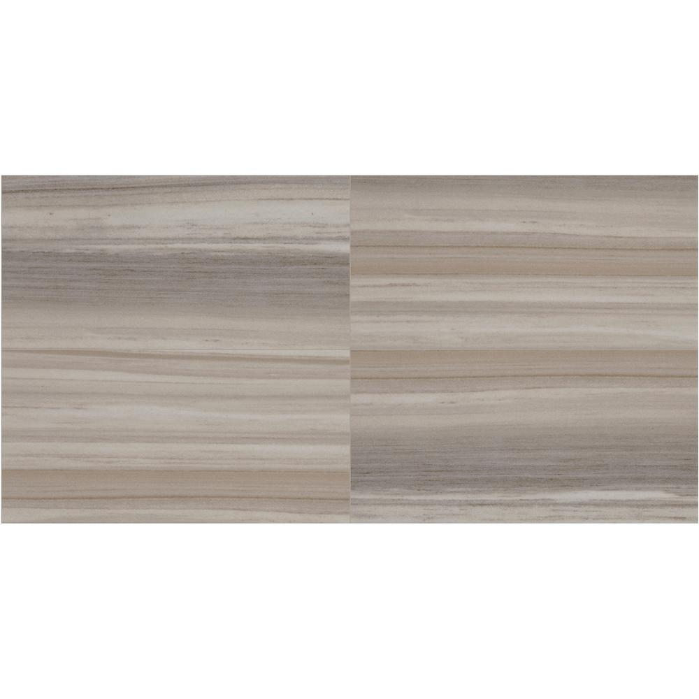 Daltile Marble View Linear Gray Marble Polished 7 in. x 7 in. Color Body  Porcelain Floor and Wall Tile (7.7 sq. ft. / case)