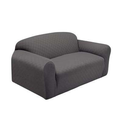Grey Newport Loveseat Stretch Slipcover