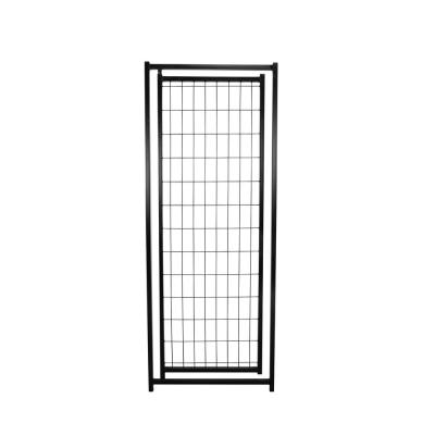 4 ft. x 4 ft. x 6 ft. and 4 ft. x 8 ft. x 6 ft. Replacement Black Metal Gate for Premium Welded Wire Kennel