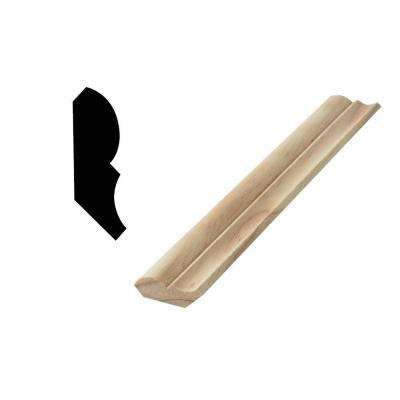 WM 74 9/16 in. x 1-3/4 in. x 96 in. Solid Pine Bed Moulding
