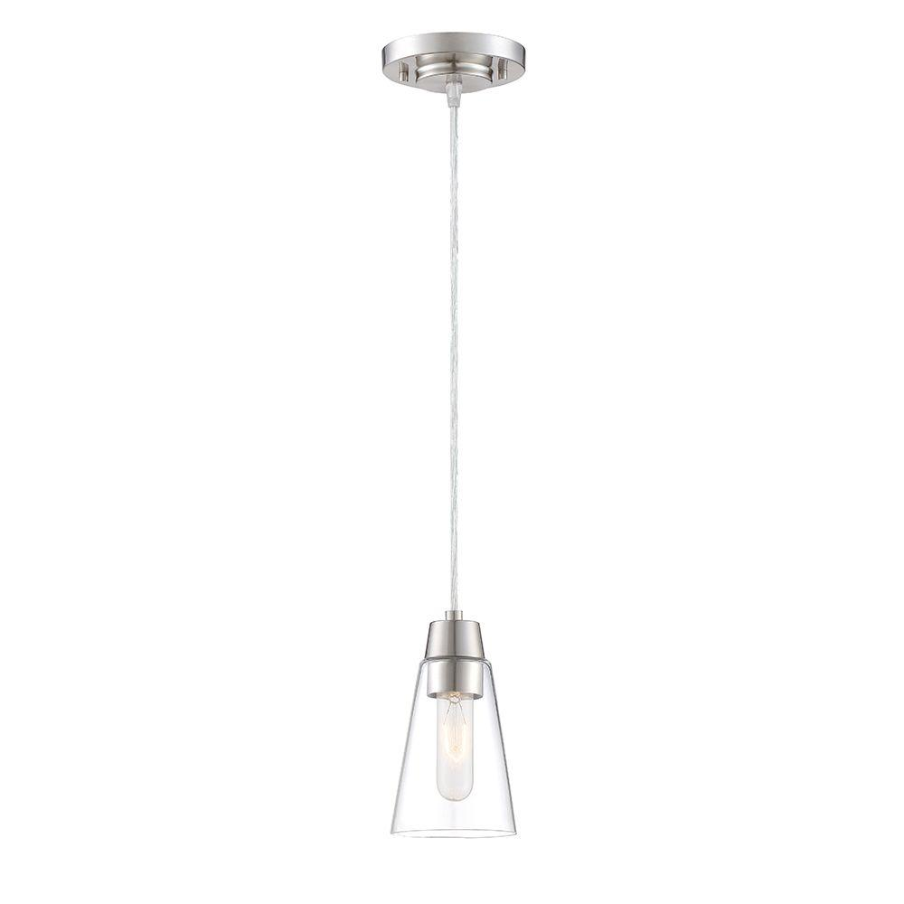 Reviews For Designers Fountain Echo Satin Platinum Mini Pendant 87830 Sp The Home Depot