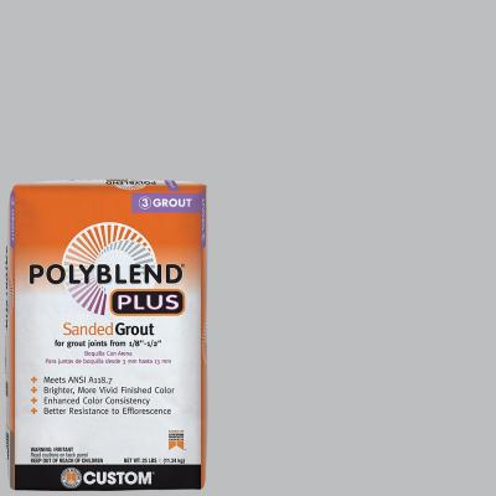 Polyblend Plus #115 Platinum 25 lb. Sanded Grout