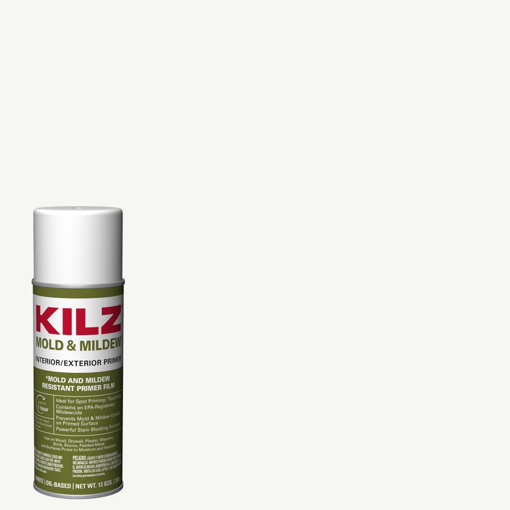 13 oz. Mold & Mildew White Oil-Based Interior and Exterior Primer, Sealer and Stain-Blocker Aerosol