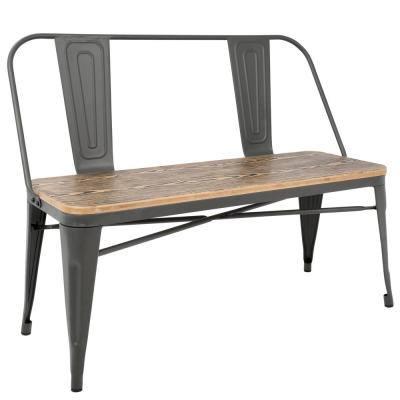 Oregon Grey and Brown Industrial Bench