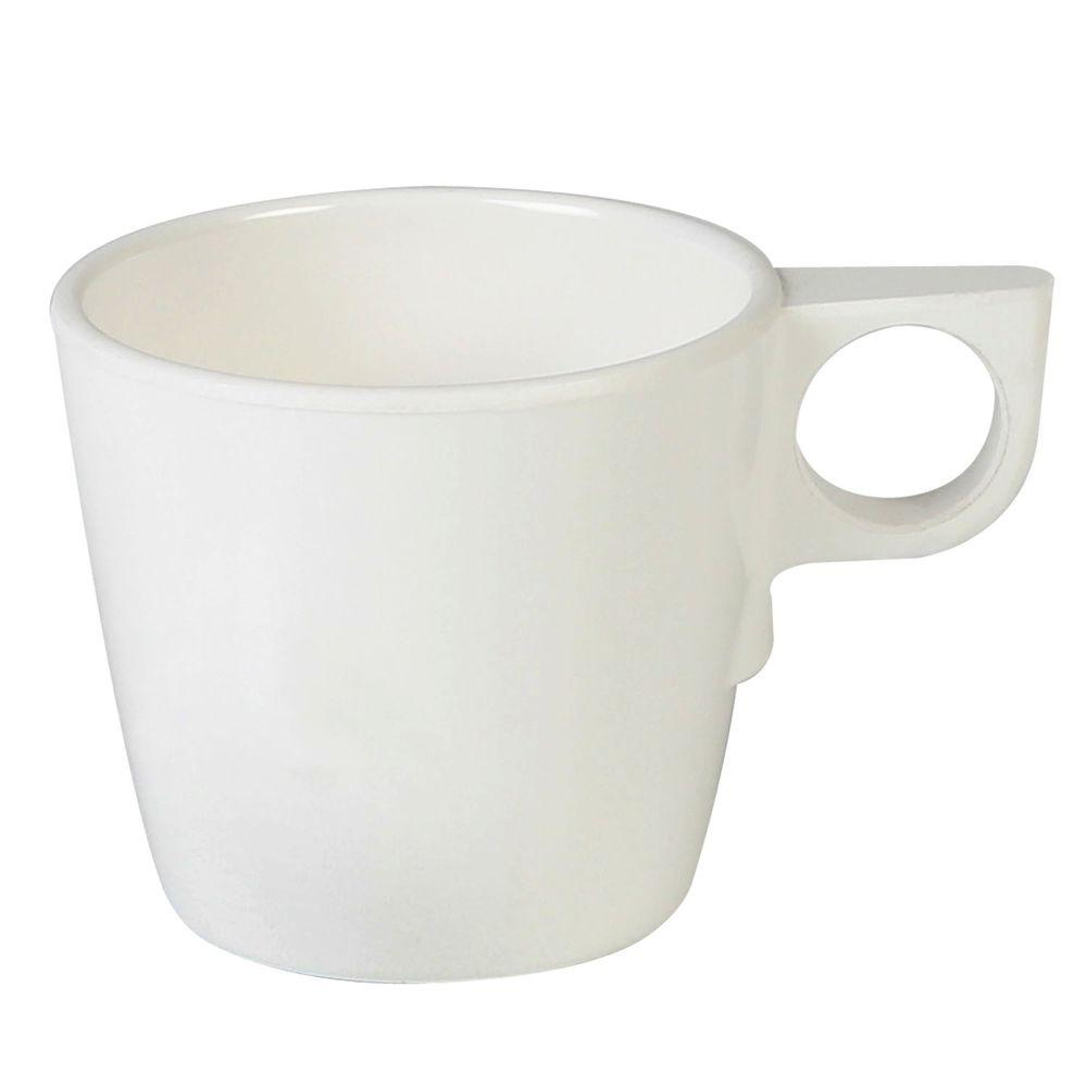 Coleur 7 oz. , 3-1/4 in. Stacking Cup in Ivory (12-Piece)