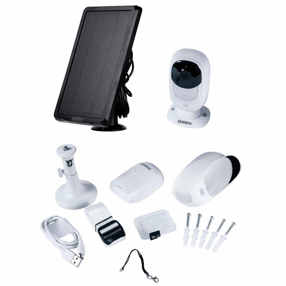 Uniden Wireless Outdoor Bullet Wi-Fi Color Security Camera with Solar Charger, White was $249.99 now $129.99 (48.0% off)