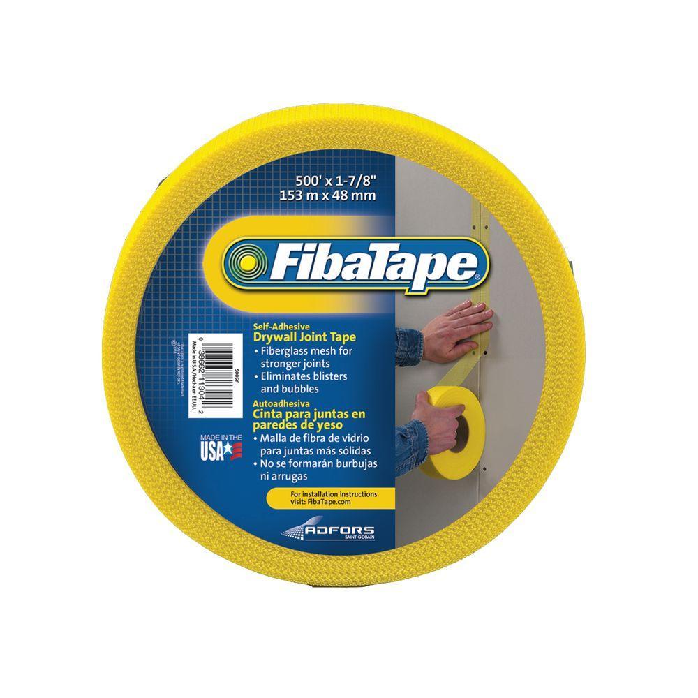 FibaTape 1-7/8 in. x 500 ft. Yellow Self-Adhesive Mesh Drywall Joint Tape
