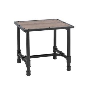 Acme Furniture Caitlin Rustic Oak End Table by Acme Furniture