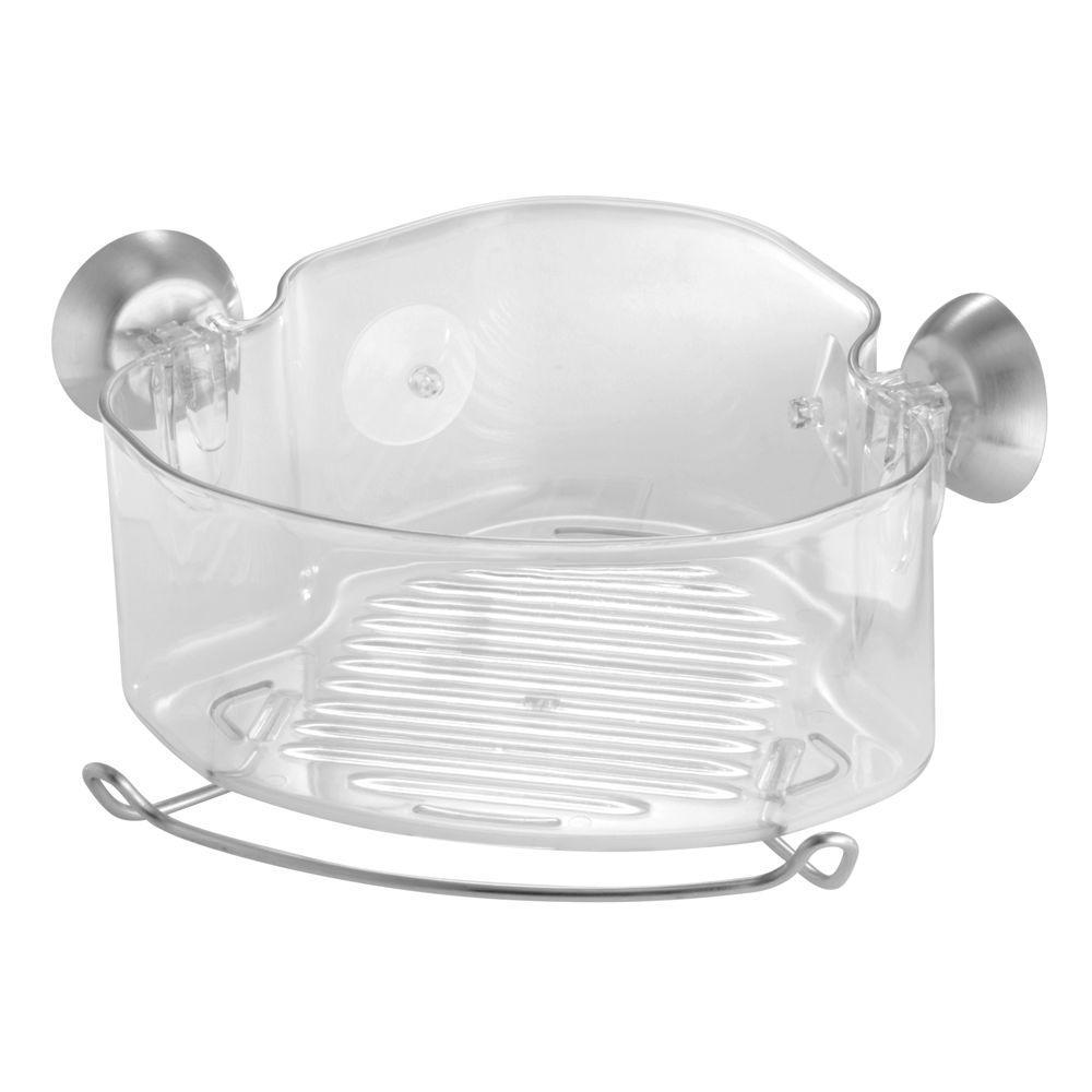 Forma PowerLock Suction Corner Shower Basket in Clear
