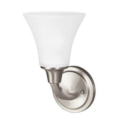Metcalf 1-Light Brushed Nickel Sconce with LED Bulb