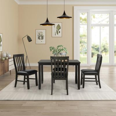 Black Owings Dining Set (5-Piece)