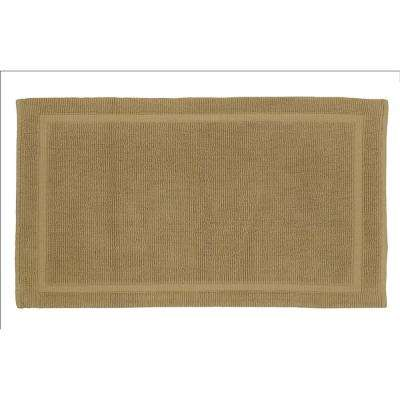 Charleston 21 in. x 34 in. 100% Organic Cotton Bath Rug in Driftwood