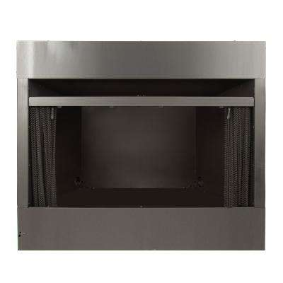 Universal Radiant Zero Clearance 36 in. Ventless Dual Fuel Fireplace Insert