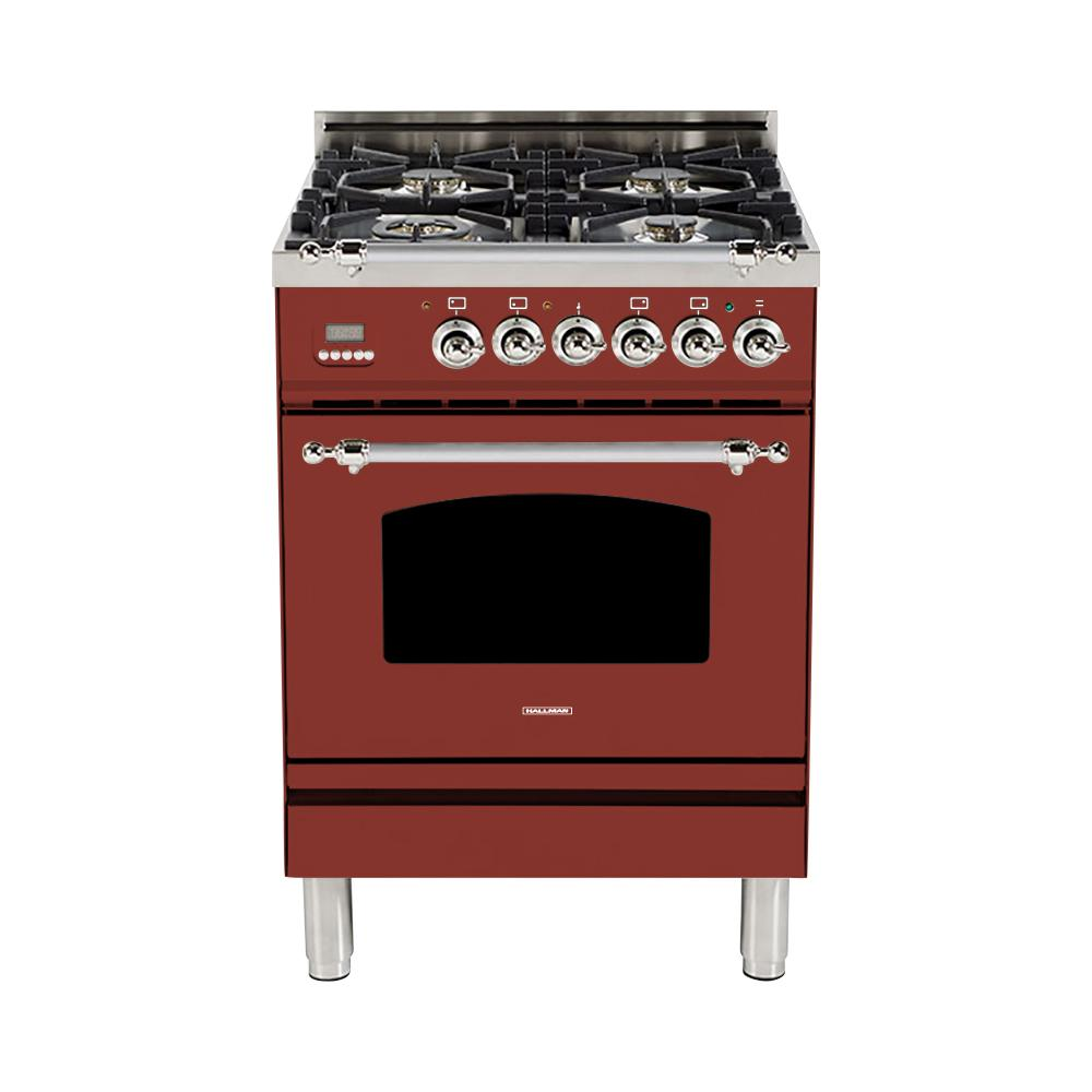 24 in. 2.4 cu. ft. Single Oven Italian Gas Range with