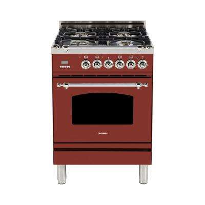 24 In 2 4 Cu Ft Single Oven Italian Gas Range With True Convection