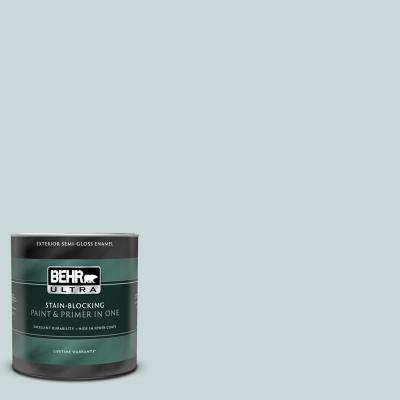 1 qt. #UL220-10 Offshore Mist Semi-Gloss Enamel Exterior Paint and Primer in One