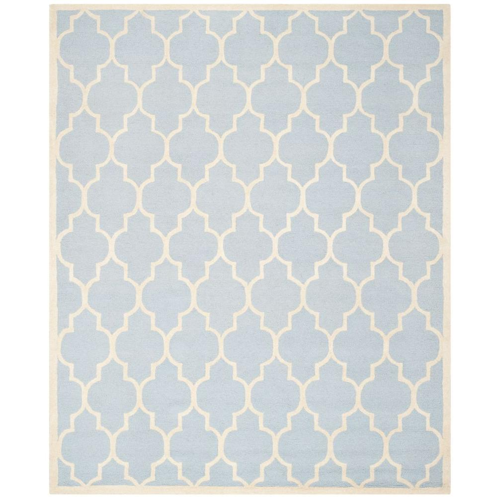 Cambridge Light Blue/Ivory 6 ft. x 9 ft. Area Rug