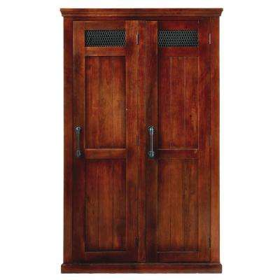 Ethan 2-Door Wooden Storage Locker in Brown