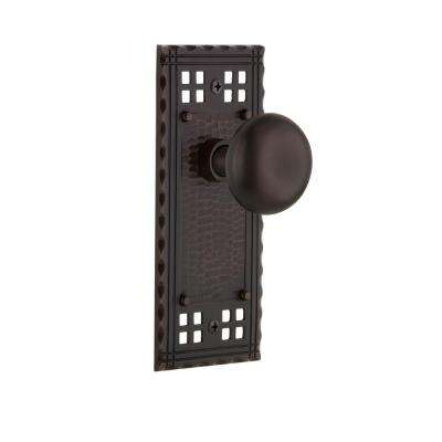Craftsman Plate 2-3/8 in. Backset Timeless Bronze Privacy Bed/Bath New York Door Knob