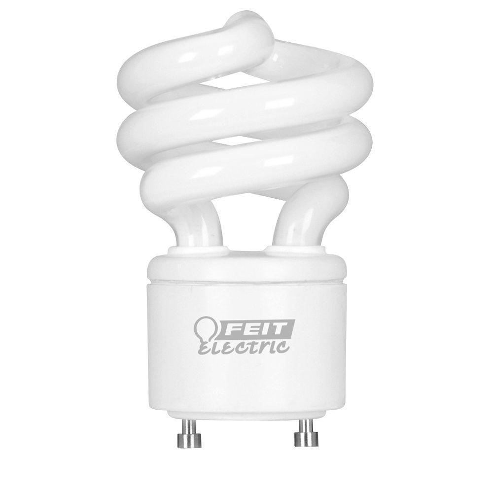 60-Watt Equivalent Soft White (2700K) Spiral GU24 CFL Light Bulb (2-Pack)