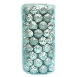 60 mm 101-Piece Shatterproof Silver Ornament Tube