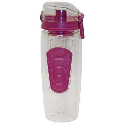 32 oz. Purple Plastic Tritan Hydration Bottle with Infuser (6-Pack)