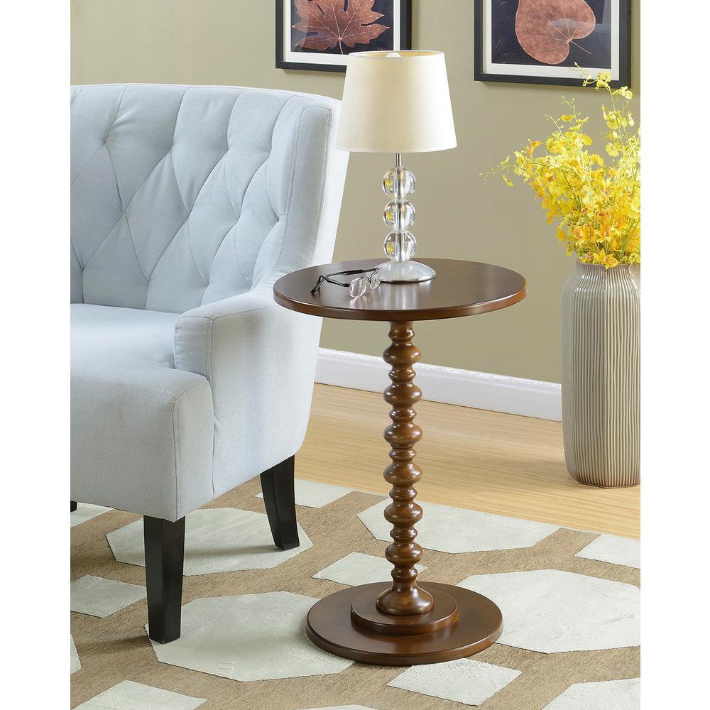 Convenience Concepts Palm Beach Espresso Spindle End Table 131355ES   The  Home Depot