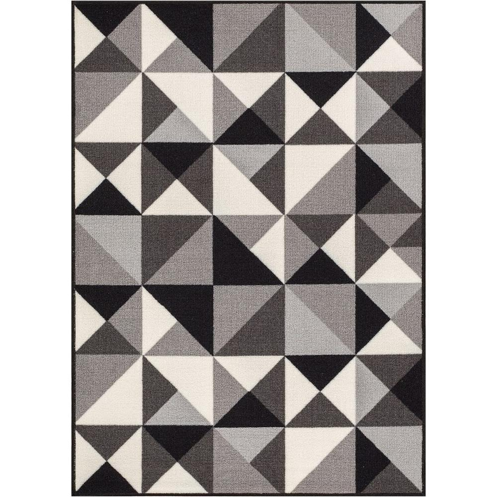 Purple Triangle Rug: Well Woven Kings Court Vector Grey 5 Ft. X 7 Ft. Modern