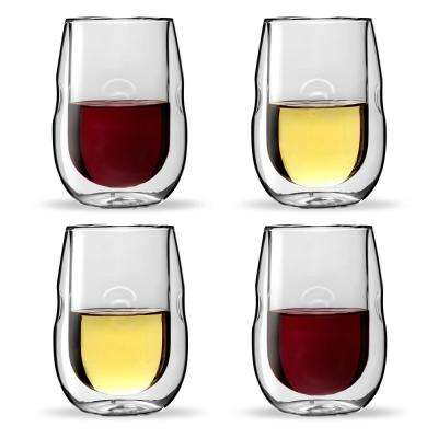 Moderna Artisan Series Double Wall Insulated Wine and Beverage Glasses (Set of 4)