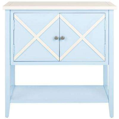 Polly Light Blue and White Buffet with Storage