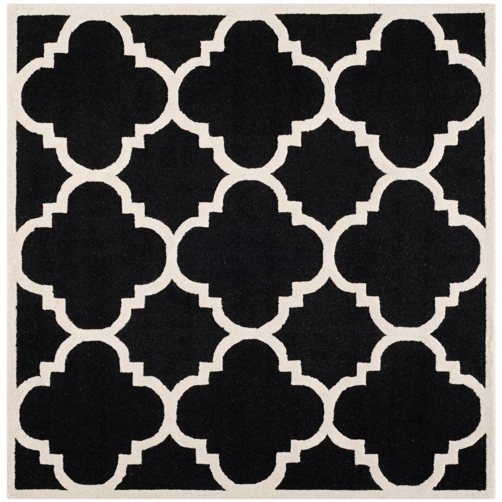 Cambridge Black/Ivory 8 ft. x 8 ft. Square Area Rug