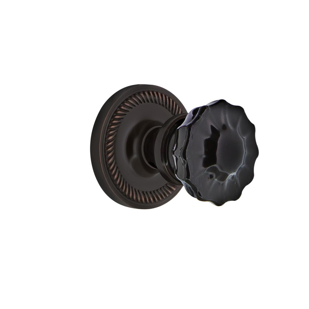 Mortise Oil-Rubbed Bronze Nostalgic Warehouse Rope Rosette with Craftsman Knob