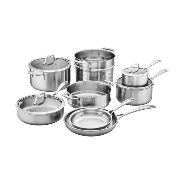 ZWILLING J.A. Henckels Zwilling Spirit 7-Piece 3-Ply Stainless Steel Cookware Set