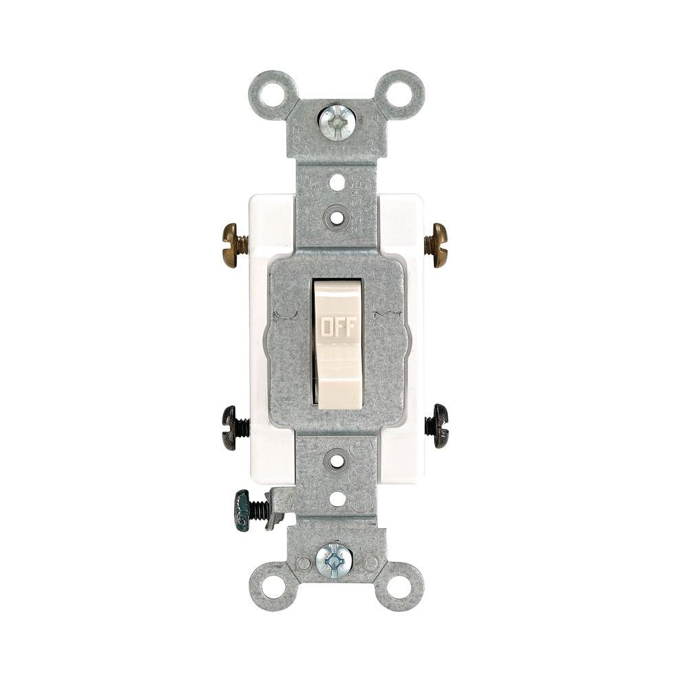 leviton 20 amp double pole toggle switch, light almond r56 0csb2 2ts20 amp double pole toggle switch, light almond
