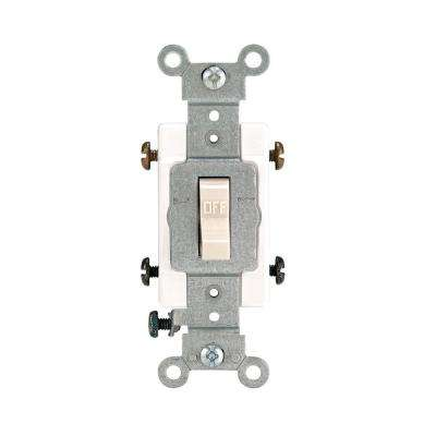 20 Amp Double-Pole Toggle Switch, Light Almond