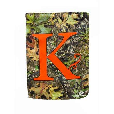 Mossy Oak 2-1/2 ft. x 3-2/3 ft. Monogrammed K 2-Sided Sublimated House Flag