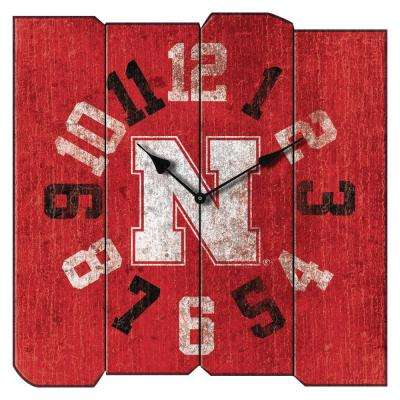 University of Nebraska Vintage Square Clock
