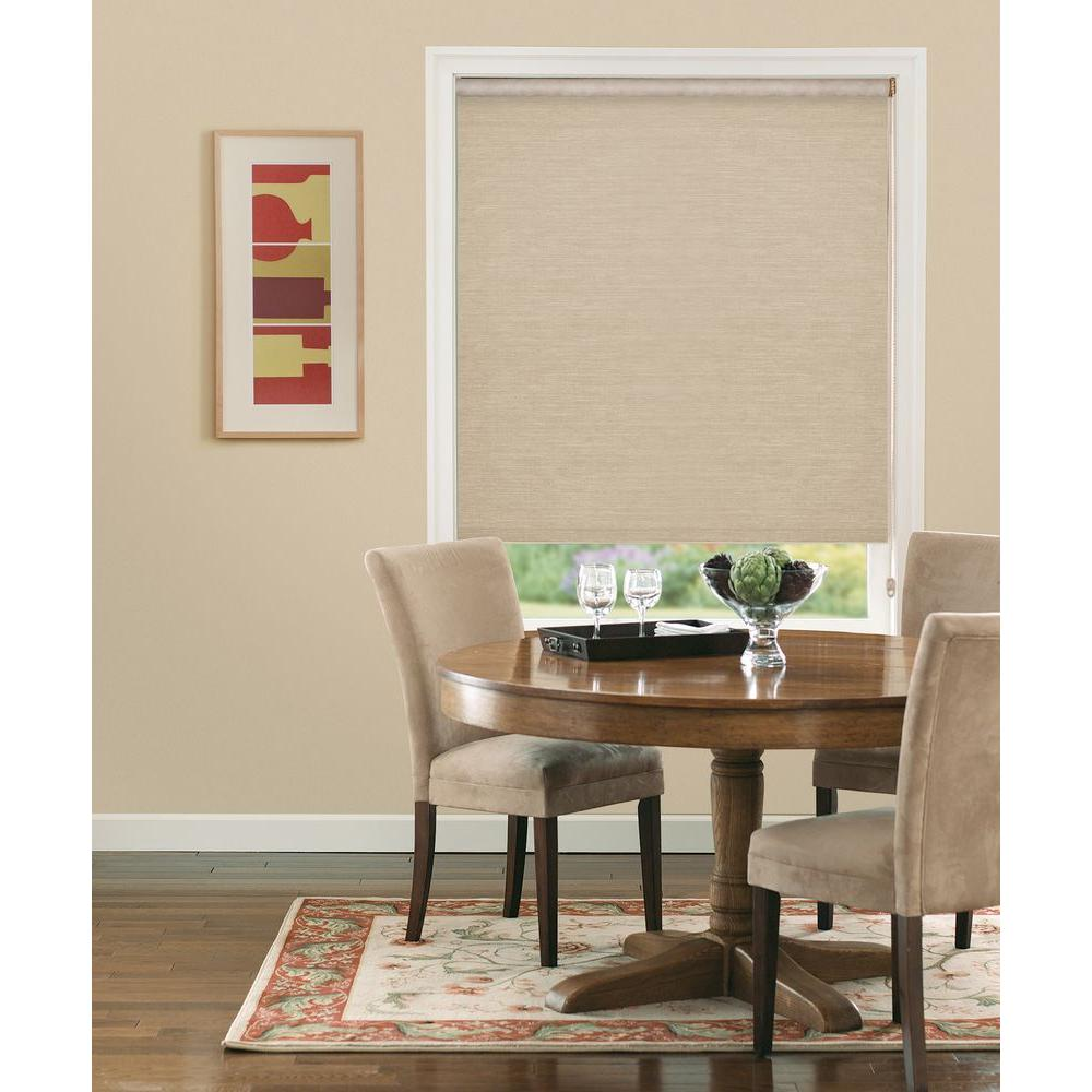 Bali Cut-to-Size Panama Natural Light Filtering Roller Shade - 27.5 in. W x 72 in. L